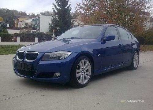 BMW 318d e90, 143k, modrá metalíza, automatická prevodovka